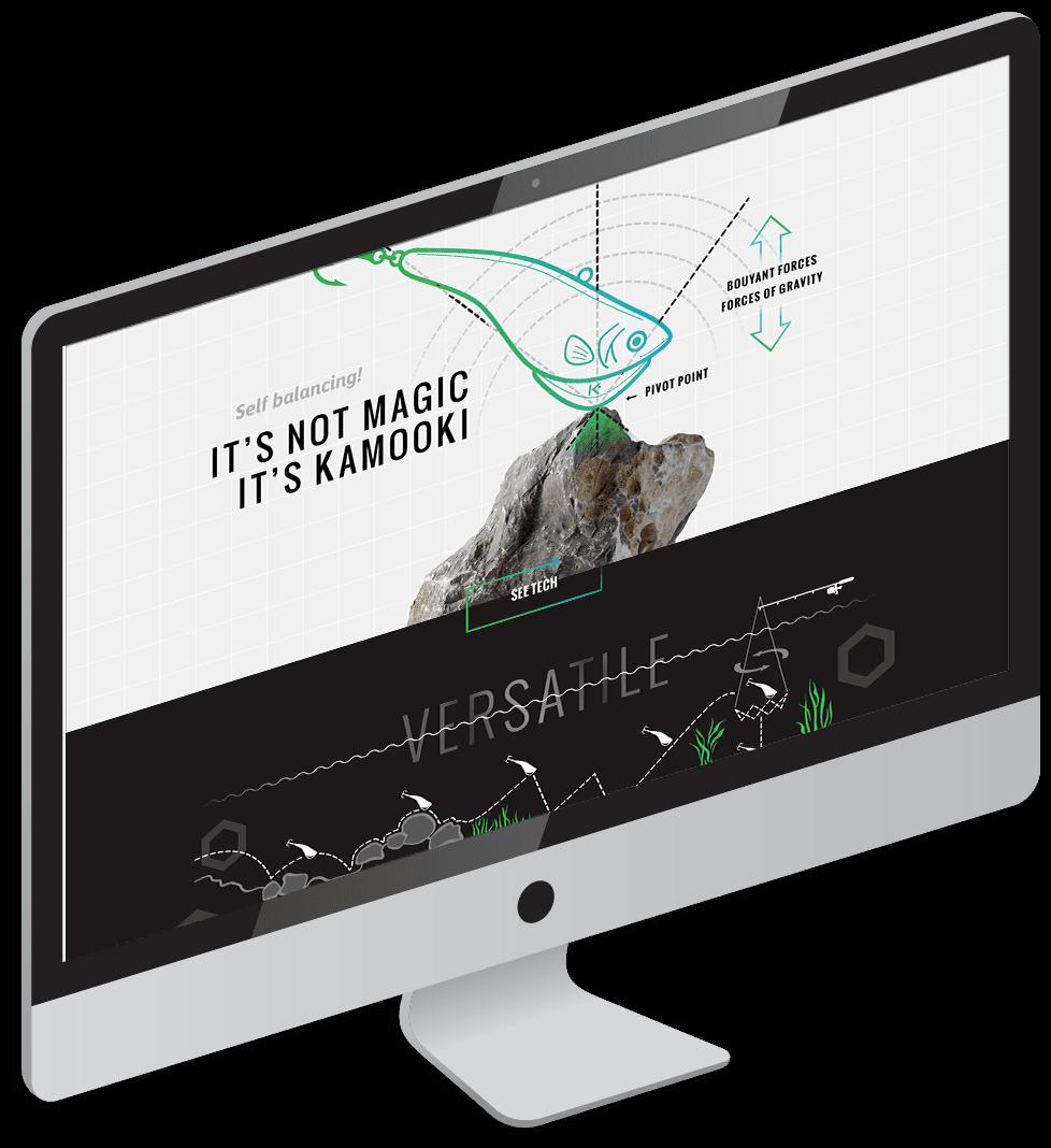 Kamooki website on iMac