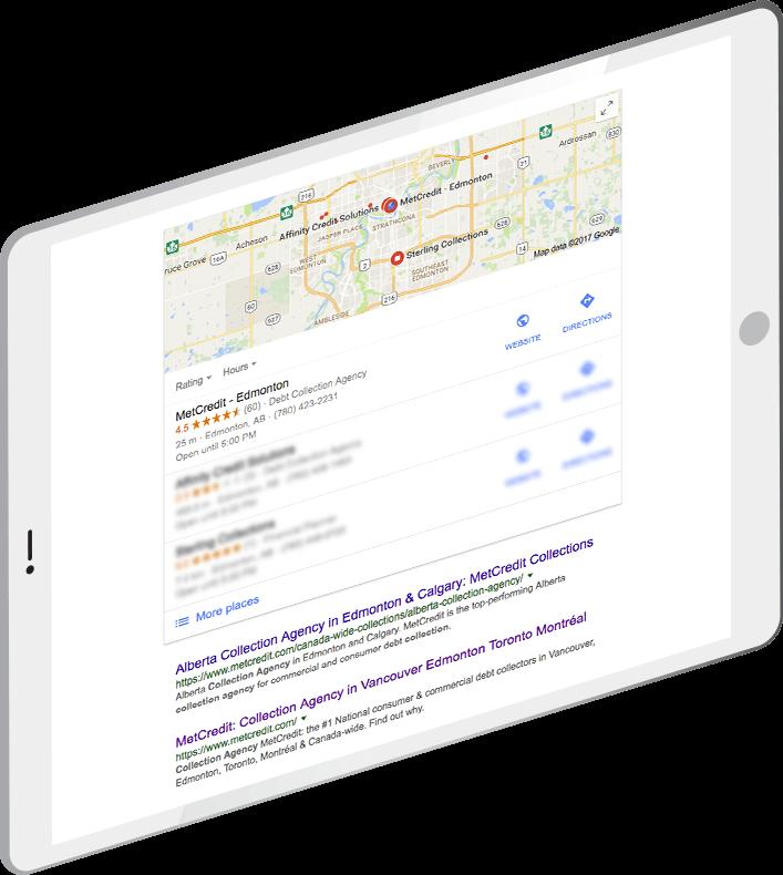 MetCredit locations on Google