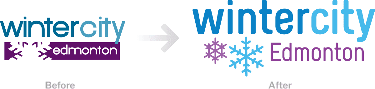 WinterCity logo before and after