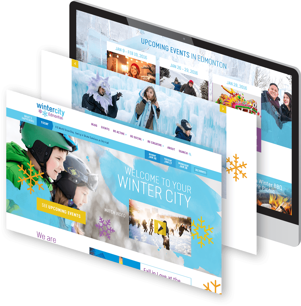 Screenshot of WinterCity website